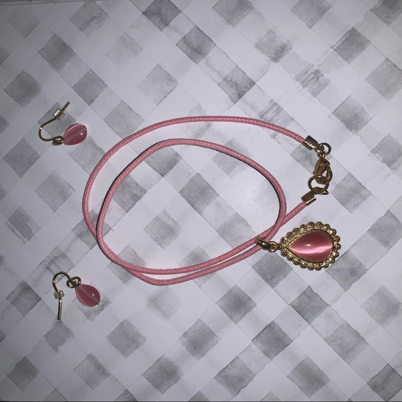 Jewelry - Pink Earring and Necklace